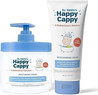 Happy Cappy Moisturizing Cream   12 oz Pump Jar & 6 oz Tube Bundle