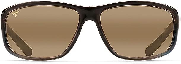 Maui Jim Spartan Reef 278-02   Polarized Gloss Black Wrap Frame Sunglasses, Patented PolarizedPlus2 Lens Technology