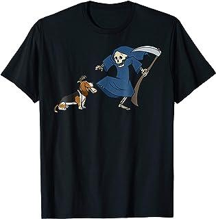 5ca262b0 Basset Hound Grim Reaper Halloween T-Shirt Dog Shirt