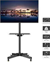 1home Mobile TV Cart Rolling TV Stand for 23-55 inch LCD LED Plasma Display Trolley Floor Stand with Locking Wheels