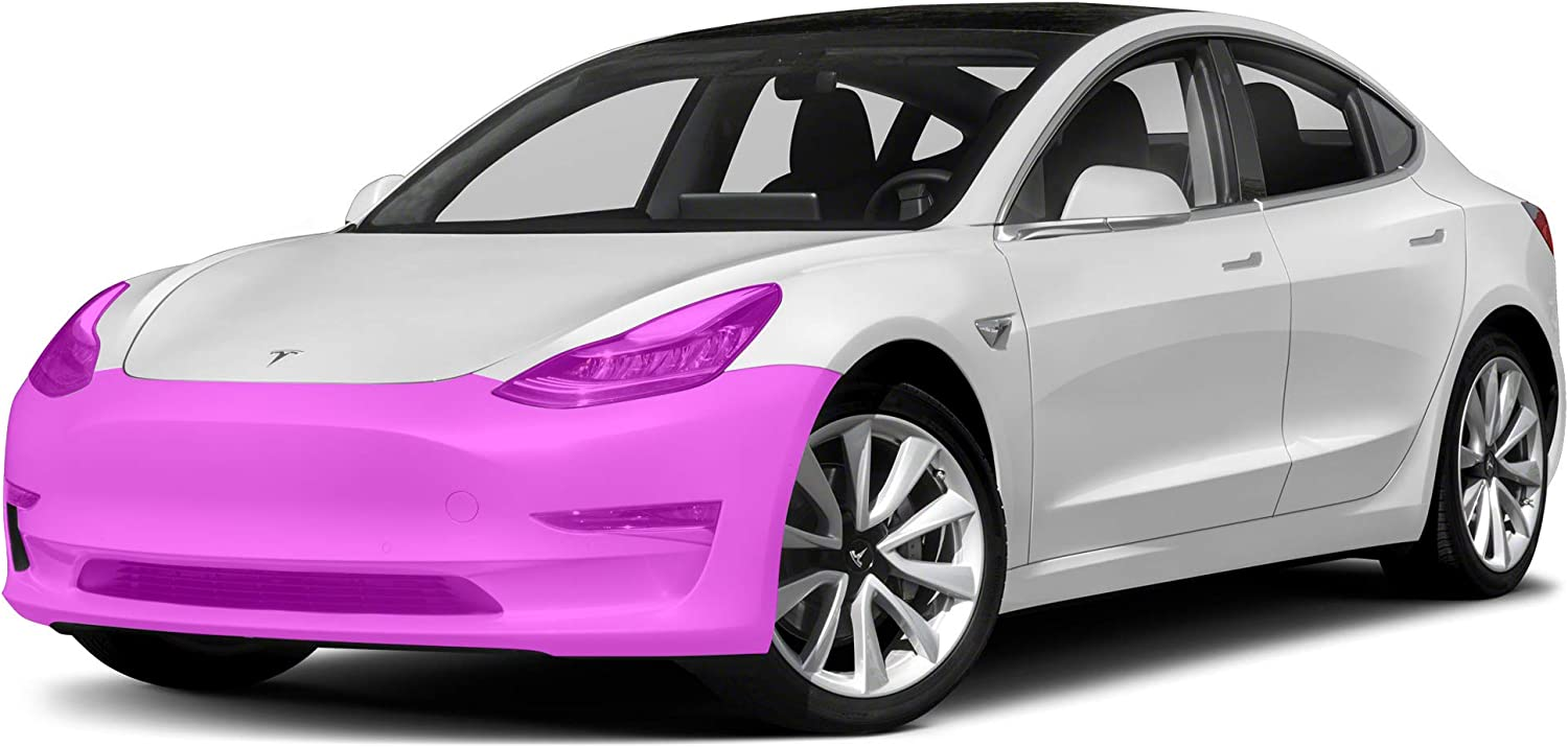 Factory Crafts Paint Protection Film Clear Bra PPF Pre-Cut Decal kit Compatible with Tesla Model 3 2017-2021 Front Bumper
