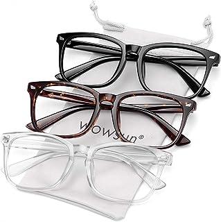Blue Light Filter Glasses Unisex Nerd Non-prescription...