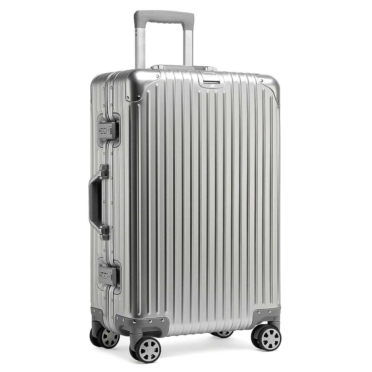 侵入するすずめ満足kroeus(クロース)スーツケース キャリーケース アルミ合金ボディ カバン掛け TSAロック搭載 8輪キャスター フレームタイプ 1年間保証サービス