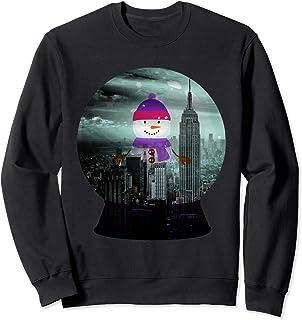 Funny Snowman in NYC snow globe shaker graphic design Sweatshirt
