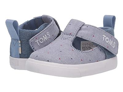 TOMS Kids Joon (Infant/Toddler) (Blue Motif Woven/Denim) Girl