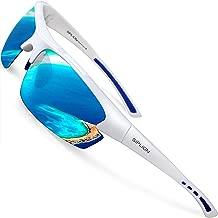 SIPLION Men's Polarized Sunglasses Sports Glasses for Cycling Fishing Golf TR90 Superlight Frame