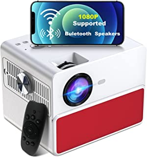 WiFi Projector, Towond 1080P HD Portable Movie Projector with HiFi Bluetooth Speaker, Native 4K 7500L Mini Video Protector...