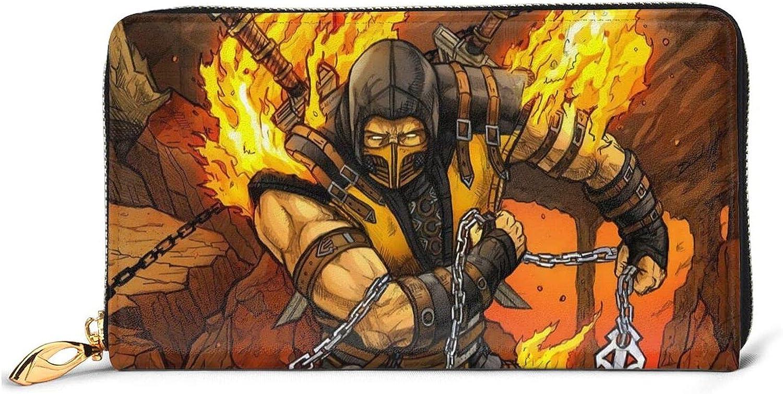 New popularity Mortal Kombat Leather Wallet Minimalist Wallets For Women Gr Men 5% OFF