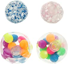 CLISPEED 4pcs Squeeze Ball Toy Rainbow Water Bead Soft Hand Squeeze Decompression Sensory Toys Goody Bag Filler for Kids A...