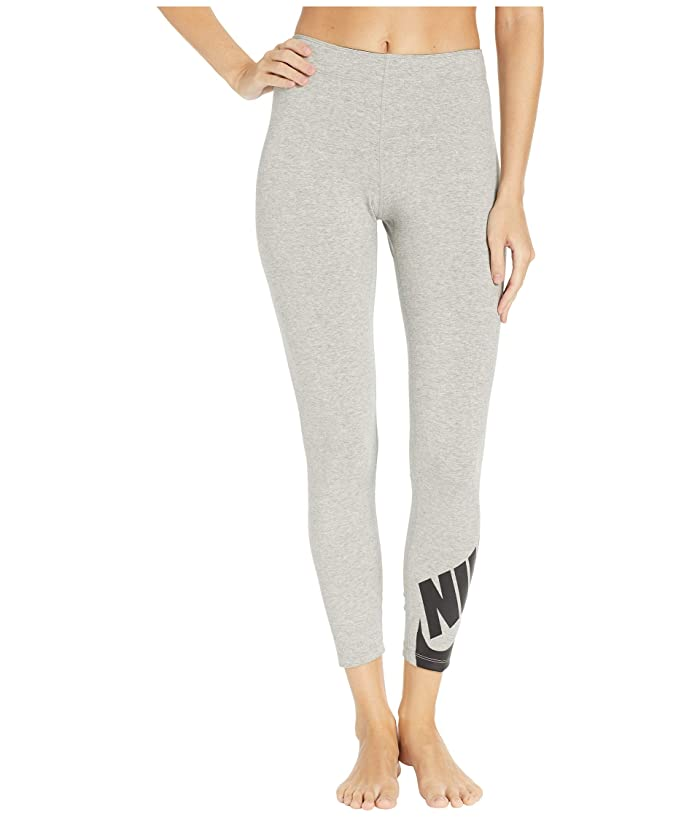 Nike Sportswear Legasee Leggings 7/8 Futura (Dark Grey Heather/Black) Women