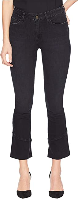 Connector Kick Crop Jeans w/ Tulip Hem in Noir Black