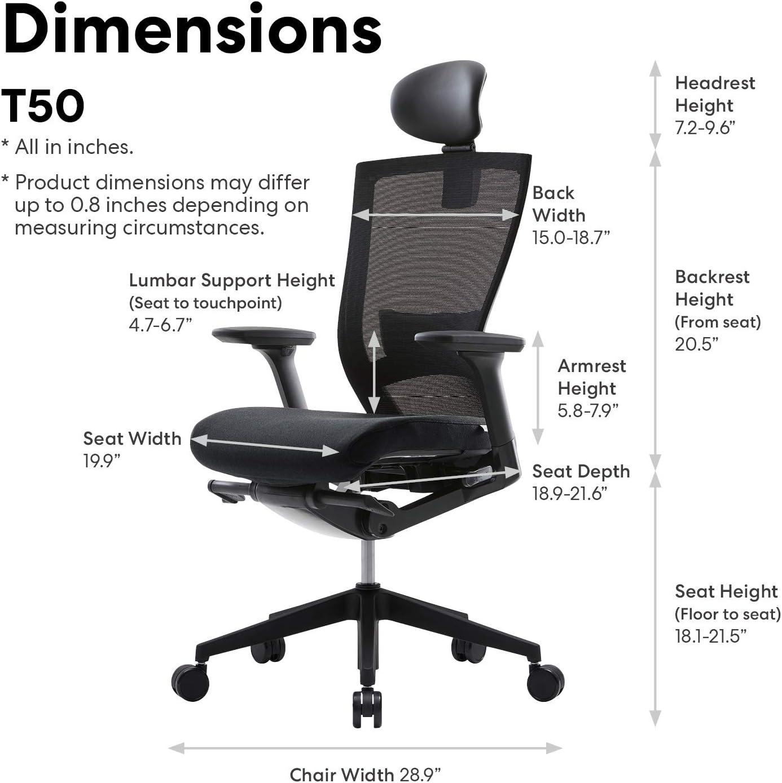 Adjustable Seat Slide/Slope Adjustable Headrest SIDIZ T50 Home ...
