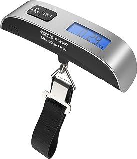 Balanza de pesca Balanza colgante hasta 50kg, digital, con pantalla LCD retroiluminada, cinta métrica y 2 pilas AAA. (PS02)