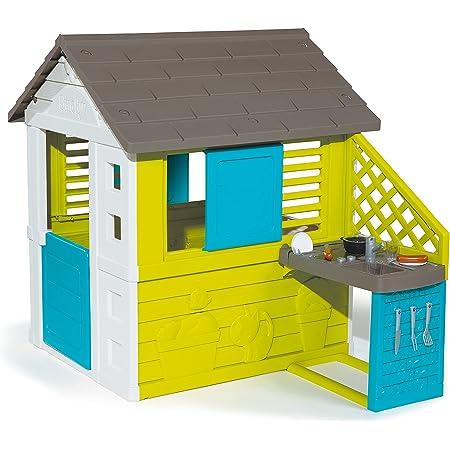 Smoby Haus Casa Pretty House II Juguete de Cocina (17 piezas) Color Verde y Azul (810711) , color/modelo surtido