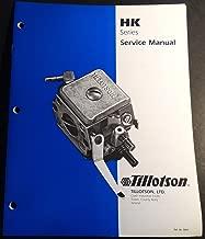 TILLOTSON CARBURETORS HK SERIES SERVICE MANUAL 15 PAGES (711)