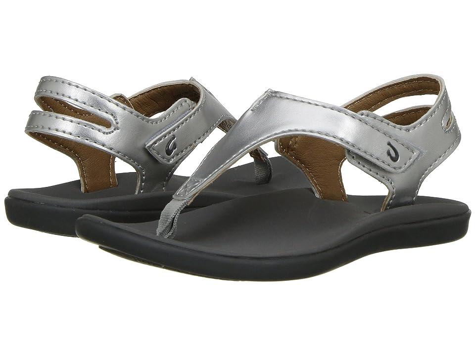 OluKai Kids Eheu  Shoes (Toddler/Little Kid/Big Kid) (Silver/Charcoal) Girls Shoes