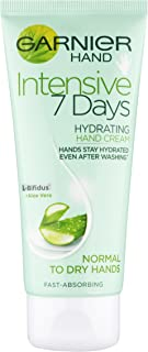 Garnier Intensive 7 Days Aloe Vera & Probiotic Extract Hand Cream 100 ml, Ultra Hydrating Formula, For Normal To Dry Hand...
