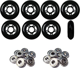 Player's Choice Outdoor Inline Skate Wheels 72MM 89a Black x8 W/ABEC 5 Bearings