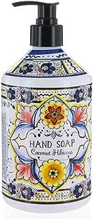 Italian Deruta Hand Soap, Coconut Hibiscus, 21.5 FL OZ By Home & Body Company