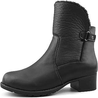 Women's Fur Lined Leather Winter Boots Paris