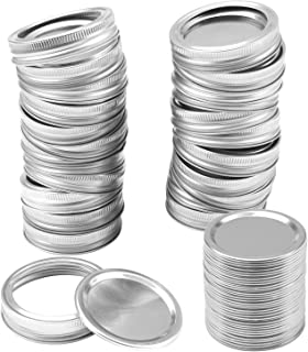 26 Set 86MM Canning Lids and Bands, Wide Mouth Mason Jar Lids and Bands for Mason Jar,Split-Type Lids Leak Proof and Secu...