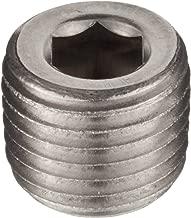 Brennan 5406-HP-04-SS Stainless Steel Pipe Fitting, Hex Head Plug, 1/4