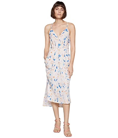 BCBGeneration Faux Wrap Midi Dress TRV6169244 (Tapioca) Women