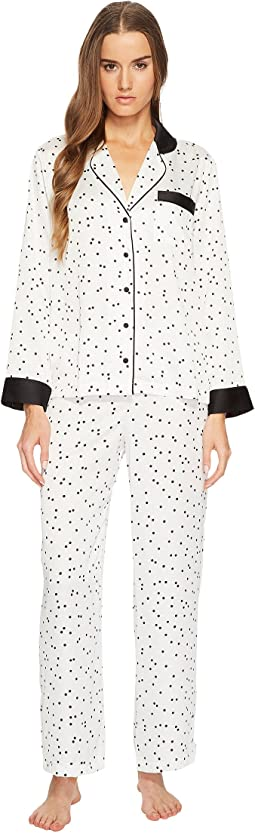 Scattered Dot Satin Pajama Set