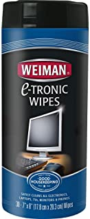 Weiman Anti-Static Electronic Cleaning Wipes For LCD Screens, Computers, TVs, Tablets, E-readers, Smart Phones, Netbooks, ...
