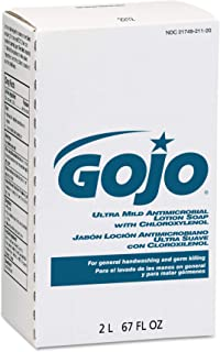 GOJO NXT Ultra Mild Antimicrobial Lotion Soap with Chloroxylenol, Citrus Fragrance, 2000 mL Lotion Soap Refill for GOJO NXT Dispenser (Case of 4) - 2212-04