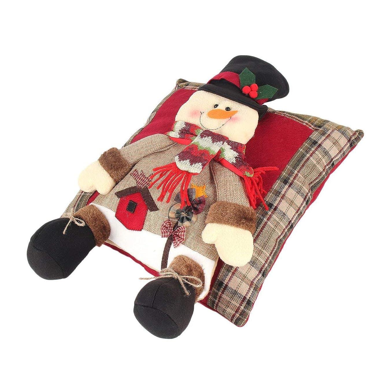 システム安息ナサニエル区Saikogoods 快適なクリスマスリネン枕フェスティバルソフトクッションホームベッドルームリビングルームのソファの装飾パーフェクトなギフト 多色