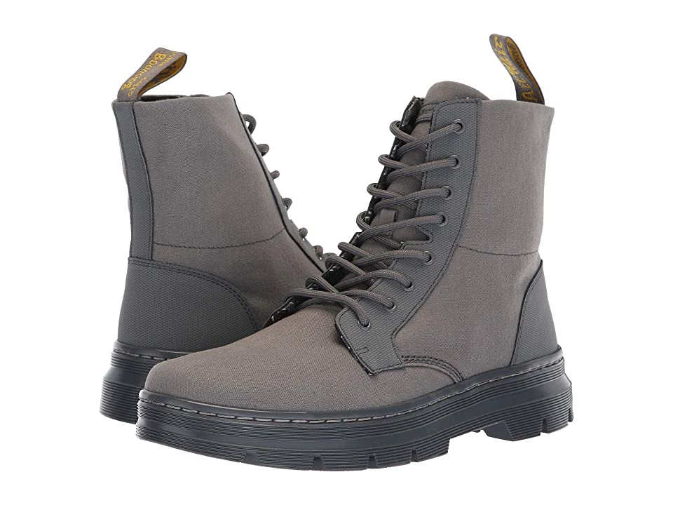 Dr. Martens Combs II Tract (Grey Broder/Grey 10oz Canvas) Boots