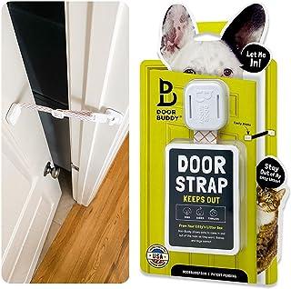 Door Buddy Adjustable Door Latch. Dog Proof Cat Litter Box Without a Dog Gate with Cat Door or Installing an Indoor Cat Do...