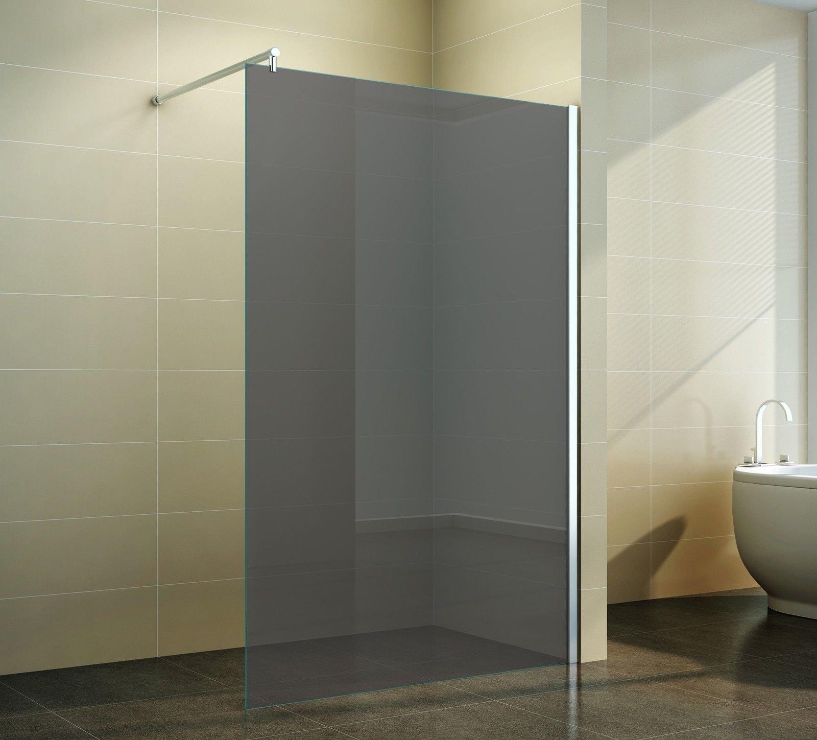 Mampara Walk en gris cristal – Elegante ducha pared pie de cristal ...