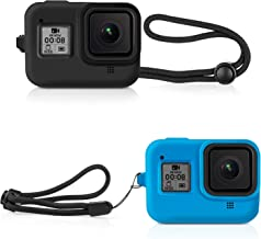 Deyard Silicone Rubber Protective Case for GoPro Hero 8 Black Action Camera, Housing Case Protector Cover for GoPro Hero 8 Black(Black and Blue)
