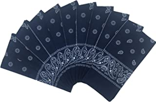100% Cotton 10 Pack Fine Bandanas Professional Factory Manufactured