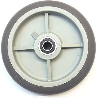 "NK WTPR8LG Non Marking Round TPR Soft Gray Flat Free Hand Truck/Utility Wheel, 8"" Wheels 5/8"" ID, Offset (Qty: 1)"