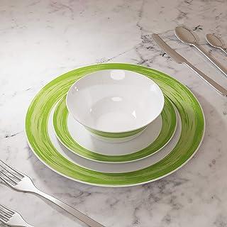 Borosil LARAH PLANO OPAL DINNER SET GREEN, 12DSPL01-G