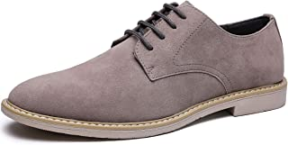 Jivana Mens Dress Shoes Suede Casual Comfortable Oxford Shoes for Men Slip on Summer Shoes Formal Black Brown Grey