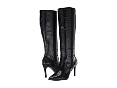 Steve Madden Kinga Knee High Boot (Black Croco) Women