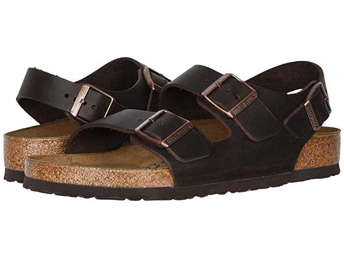 Birkenstock Milano - Oiled Leather (Unisex) (Habana Oiled Leather) Sandals