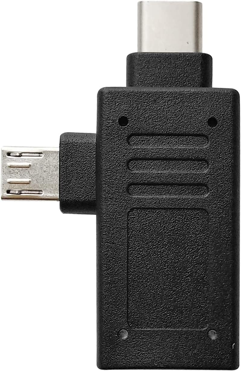 Posdou 2 in 1 Type C and Micro USB Male to USB 3.0 OTG Adapter