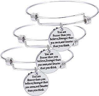 Pack of 3 Inspirational Bangle Bracelets, Inspirational Gifts, Inspirational Jewelry, Women Bangles