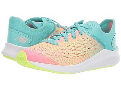 New Balance Kids Fresh Foam Fast (Little Kid/Big Kid) (Bleached Guava/Bleached Lime Glo/Light Tidepool) Girls Shoes