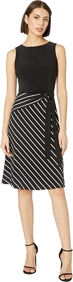 B825P Chalk Stripe Katonda Sleeveless Day Dress