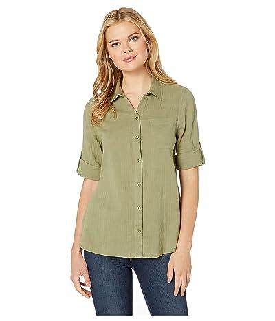 Jag Jeans Adley Button Up Shirt (Avocado) Women