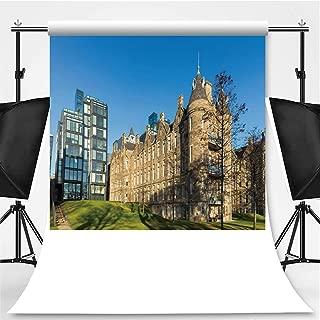 Edinburgh Cityscape Photography Backdrop,Scotland for Television,Flannelette:5x7ft