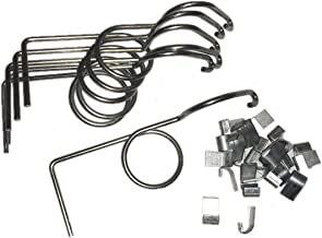 rabbitnipples.com 6 Pack Wire Door Cage Latches Left with J-Clips