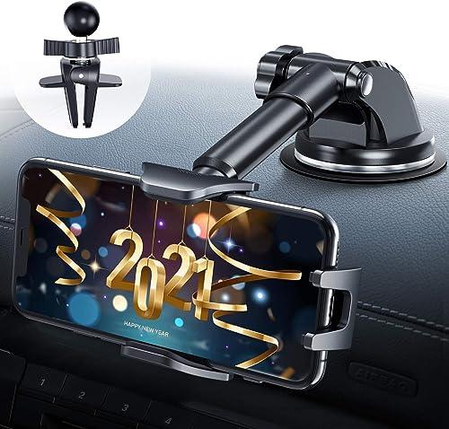 DesertWest Support Téléphone Voiture Universel (2021 Dernière Edition) Super Stabilité Forte Ventouse Rotation à 360°...