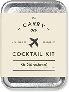 W&P MAS-CARRY-KIT Carry on Cocktail Kit, Old Fashioned Travel Kit for Drinks on the Go, Craft Cocktails,  TSA Approved